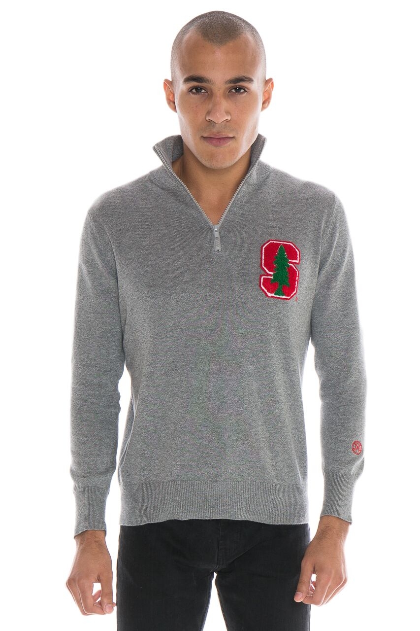STANFORD UNIVERSITY Men's Quarter Zip Sweater