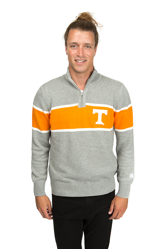 UNIVERSITY OF TENNESSEE Vols Men's Mock Ribbed Quarter Zip
