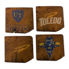 UNIVERSITY OF TOLEDO Reclaimed Barn Beam Coaster Set