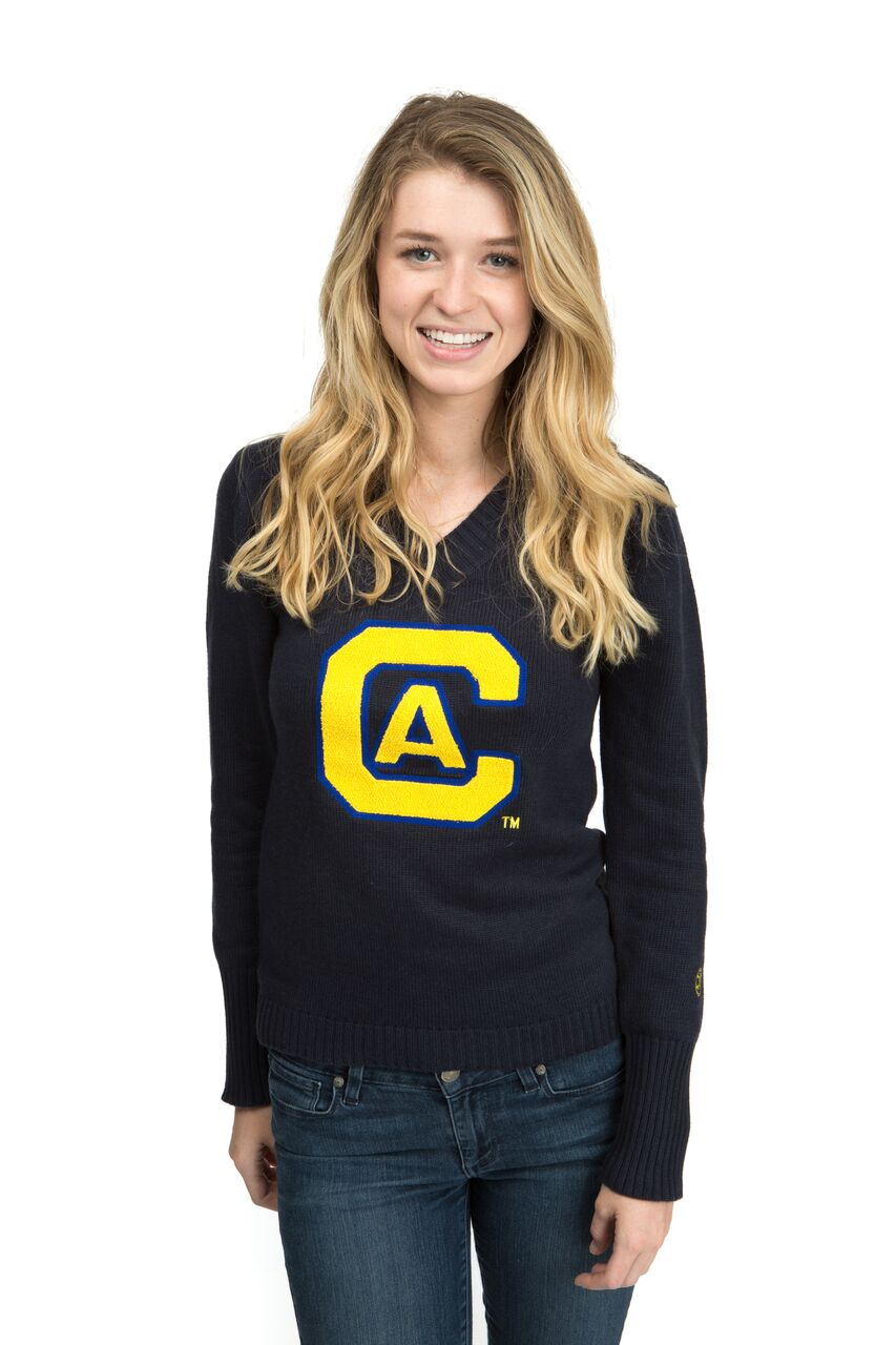 UNIVERSITY OF CALIFORNIA, DAVIS Aggies Women's V-Neck Sweater