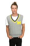 UNIVERSITY OF MICHIGAN Wolverines Mens Cable Knit Vest