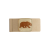 CAL Bear Glass Emblem Money Clip