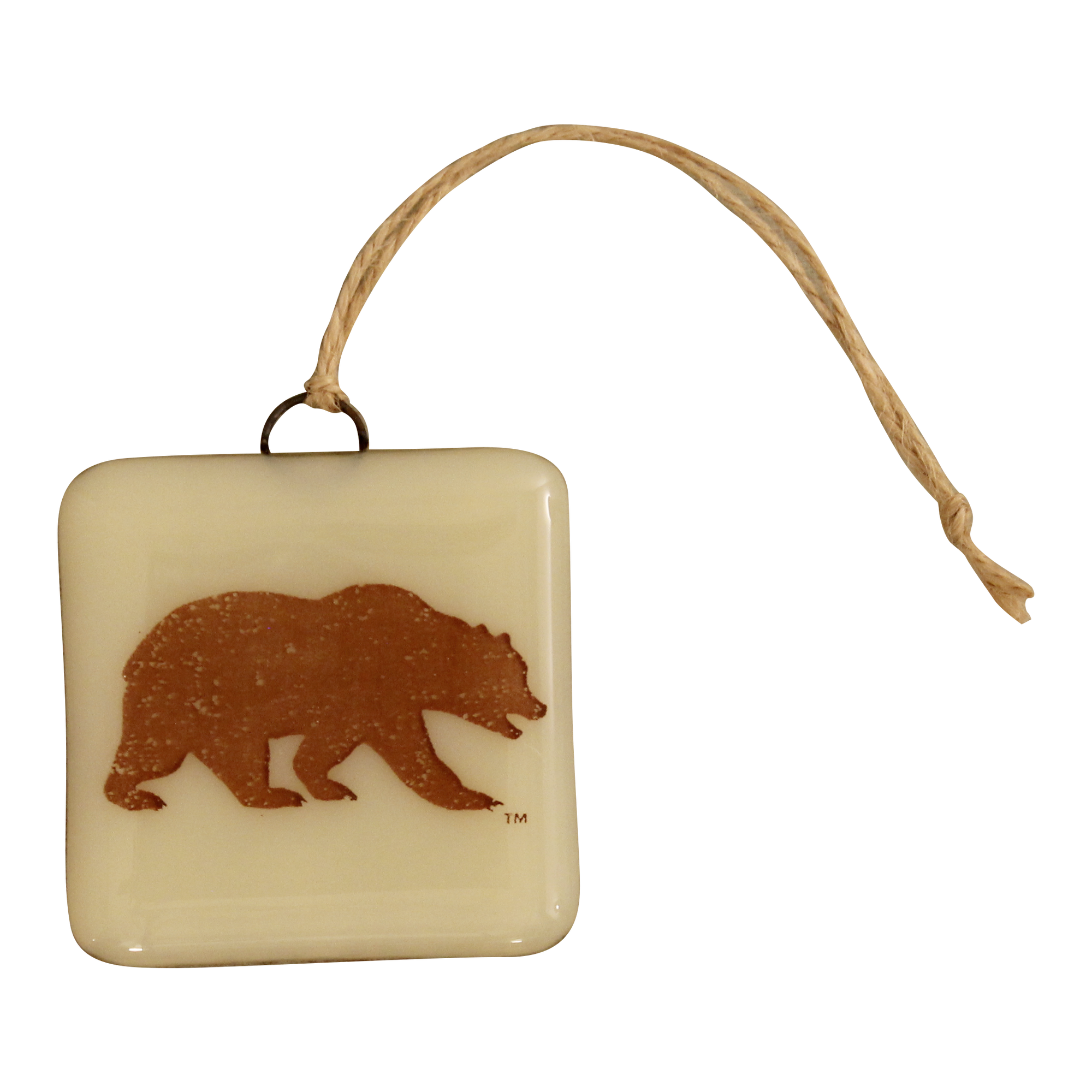 CAL Bear Glass Ornament