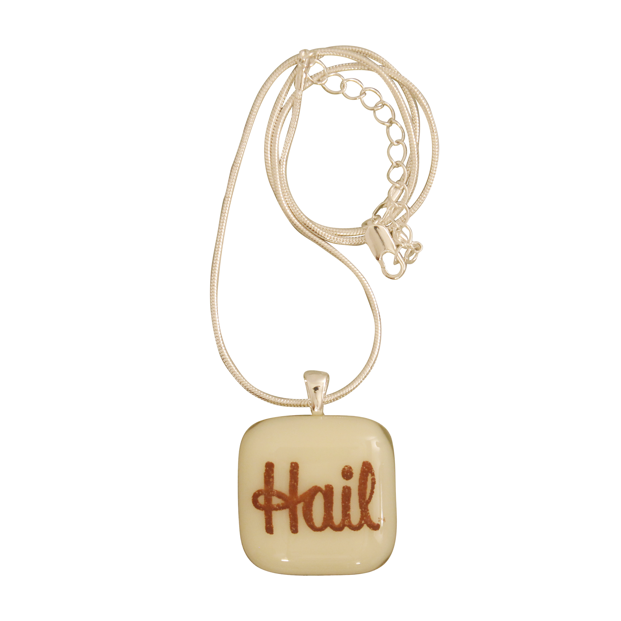 UNIVERSITY OF MICHIGAN Hail Michigan Glass Necklace