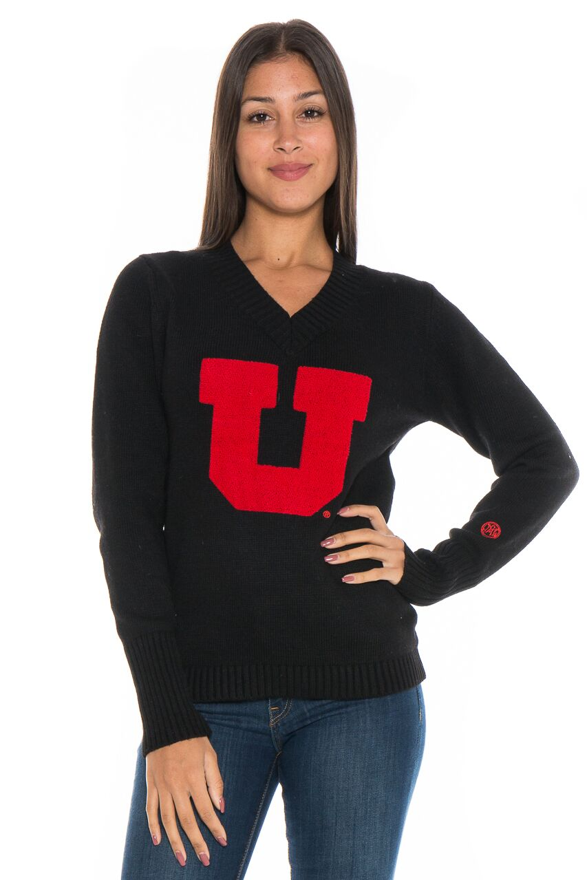UNIVERSITY OF UTAH Utes Women's V-Neck Sweater