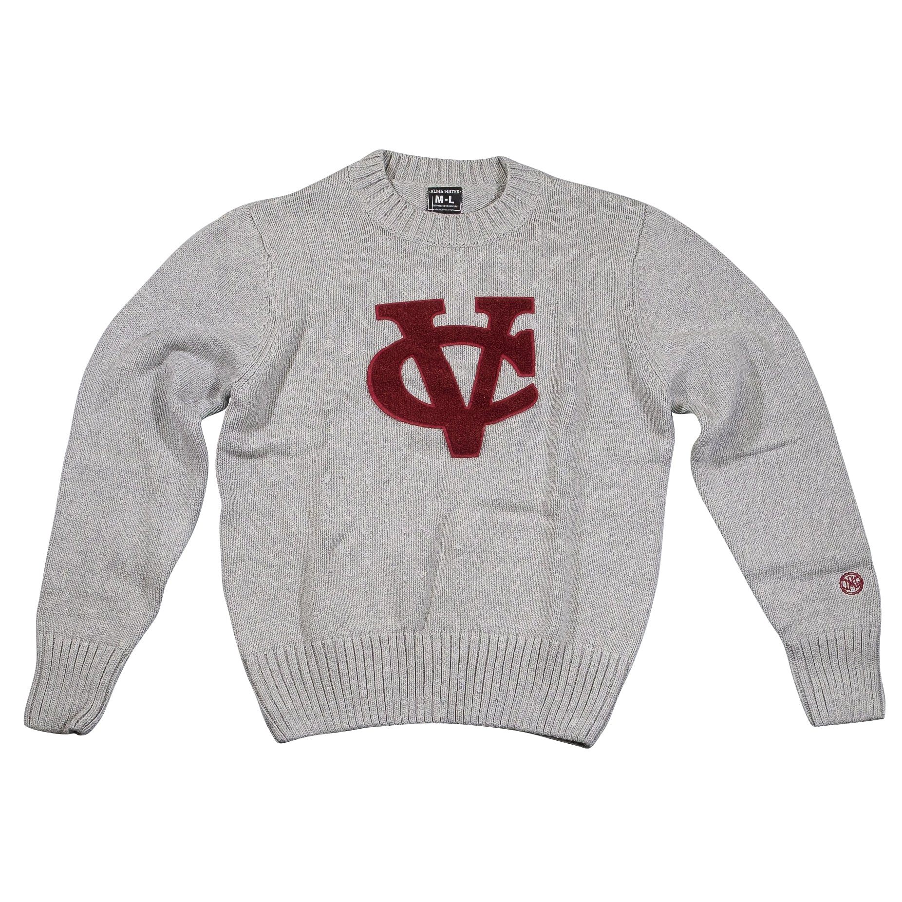 VASSAR COLLEGE Men's Crew Neck Sweater