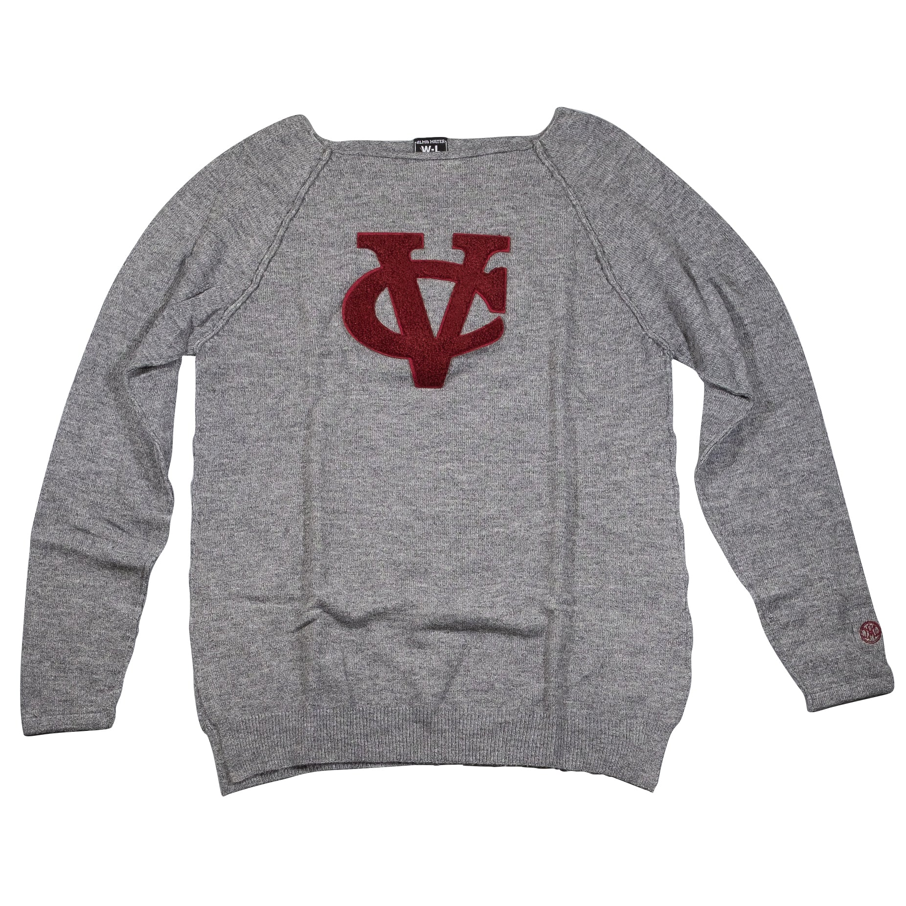 VASSAR COLLEGE  Womens Visible Seam Sweater