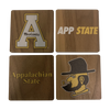 APPALACHIAN STATE UNIVERSITY Walnut Coaster Set