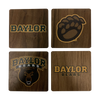 Baylor Walnut Coaster Set