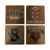 Brown University Walnut Coaster Set