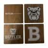 BUTLER UNIVERSITY Walnut Coaster Set