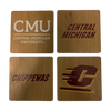 CENTRAL MICHIGAN UNIVERSITY Walnut Coaster Set