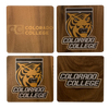 COLORADO COLLEGE Walnut Coaster Set