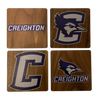 CREIGHTON UNIVERSITY Walnut Coaster Set