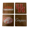 UNIVERSITY OF HOUSTON Walnut Coaster Set