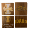 UNIVERSITY OF IDAHO Walnut Coaster Set