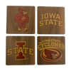 IOWA STATE UNIVERSITY Walnut Coaster Set