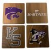 KANSAS STATE UNIVERSITY Walnut Coaster Set