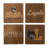 LOYOLA UNIVERSITY CHICAGO Walnut Coaster Set