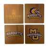 MARQUETTE UNIVERSITY Walnut Coaster Set