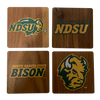 NORTH DAKOTA STATE UNIVERSITY Walnut Coaster Set