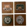 OHIO UNIVERSITY Walnut Coaster Set