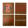 SAN DIEGO STATE UNIVERSITY Walnut Coaster Set