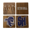 SETON HALL UNIVERSITY Walnut Coaster Set