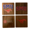 SOUTHERN METHODIST UNIVERSITY Walnut Coaster Set