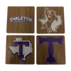 TARLETON STATE UNIVERSITY Walnut Coaster Set