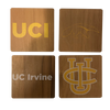 UNIVERSITY OF CALIFORNIA, IRVINE Walnut Coaster Set