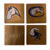 UNIVERSITY OF CALIFORNIA, DAVIS Walnut Coaster Set