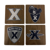 XAVIER UNIVERSITY Walnut Coaster Set