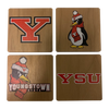 YOUNGSTOWN STATE UNIVERSITY Walnut Coaster Set
