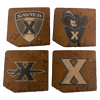 XAVIER UNIVERSITY Reclaimed Barn Beam Coaster Set