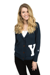 YALE UNIVERSITY Bulldogs Women's Letterman Cardigan