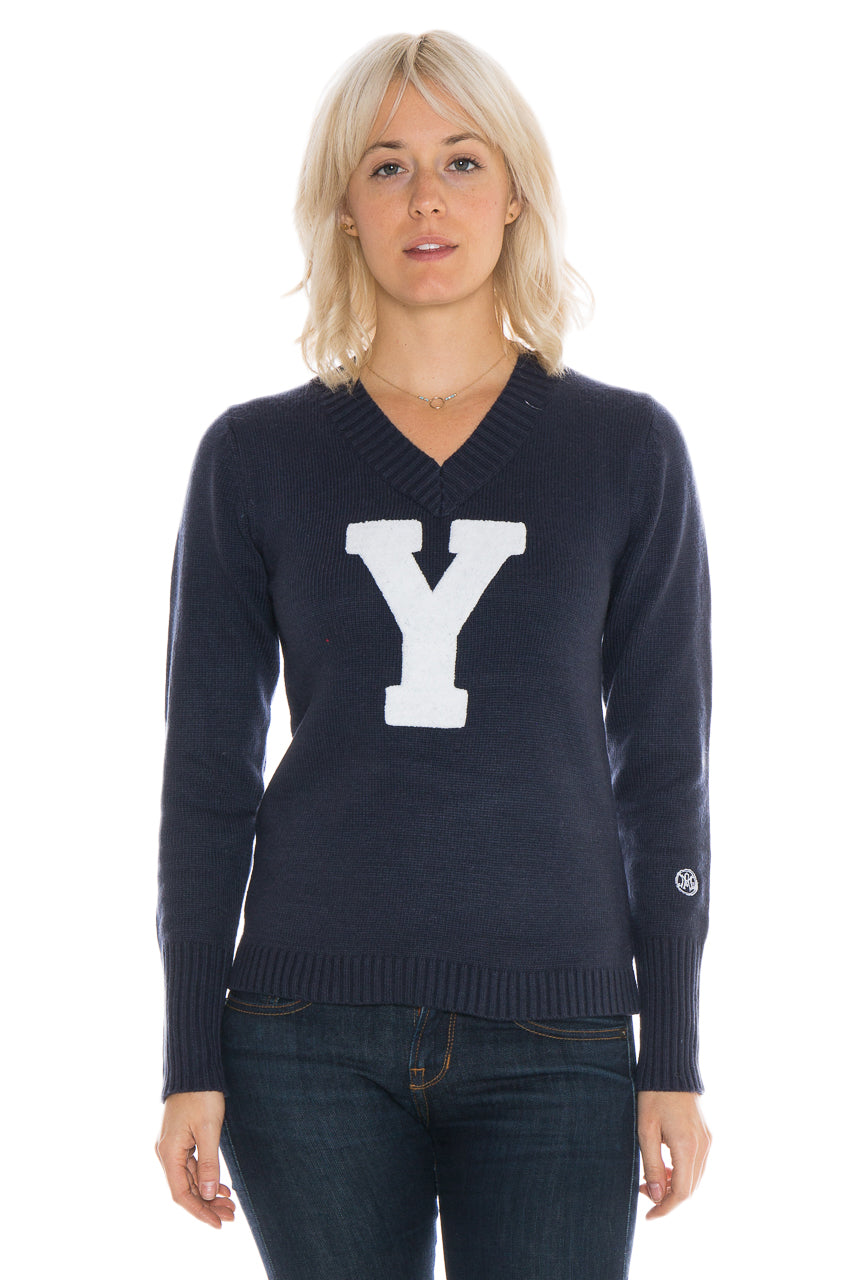 YALE UNIVERSITY Bulldogs Women's V-Neck Sweater