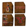 YOUNGSTOWN STATE UNIVERSITY Reclaimed Barn Beam Coaster Set