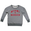 MIAMI UNIVERSITY Redhawks Miami Merger Block Letters Women's French Terry Boatneck Pullover