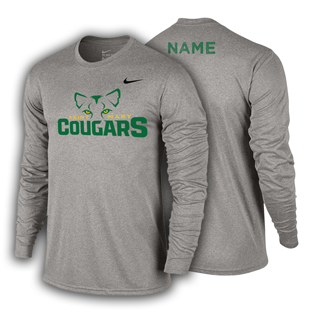 4dc734158ad9 ST. MARY SCHOOL Nike Legend Youth L S Shirt - Alma Mater Wear