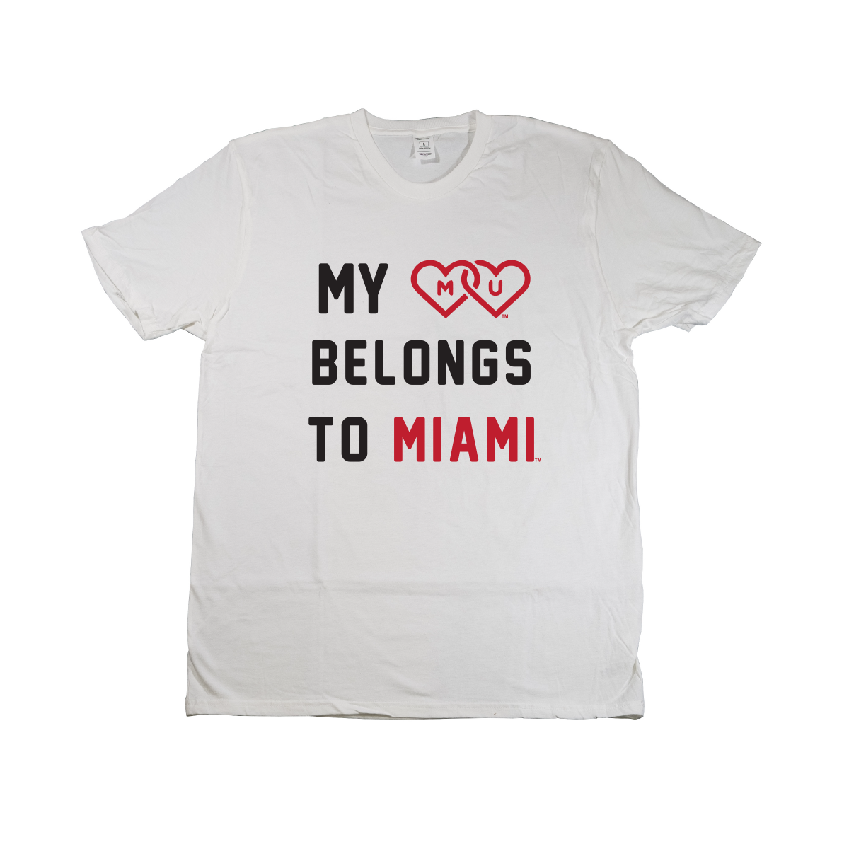 MIAMI UNIVERSITY Redhawks Heart Belongs To Crewneck Tee