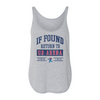 University of Dayton If Found Return To UD Arena Women's Side Slit Tank