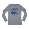 The University of Akron If found return to jar Women's Long Sleeve Tee