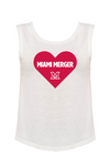MIAMI UNIVERSITY Redhawks Miami Merger Heart Knockout Women's Muscle Tank