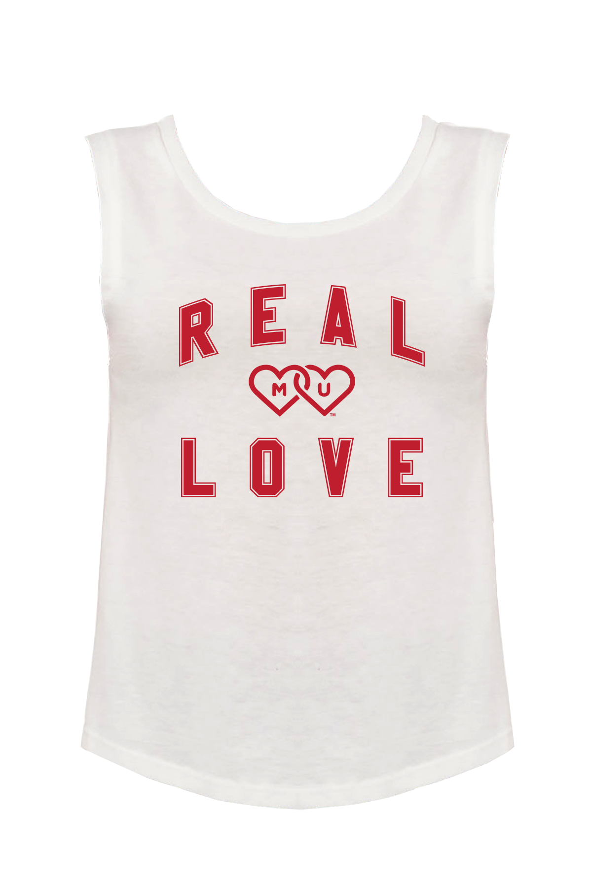MIAMI UNIVERSITY Redhawks Miami Merger Real Love Women's Muscle Tank