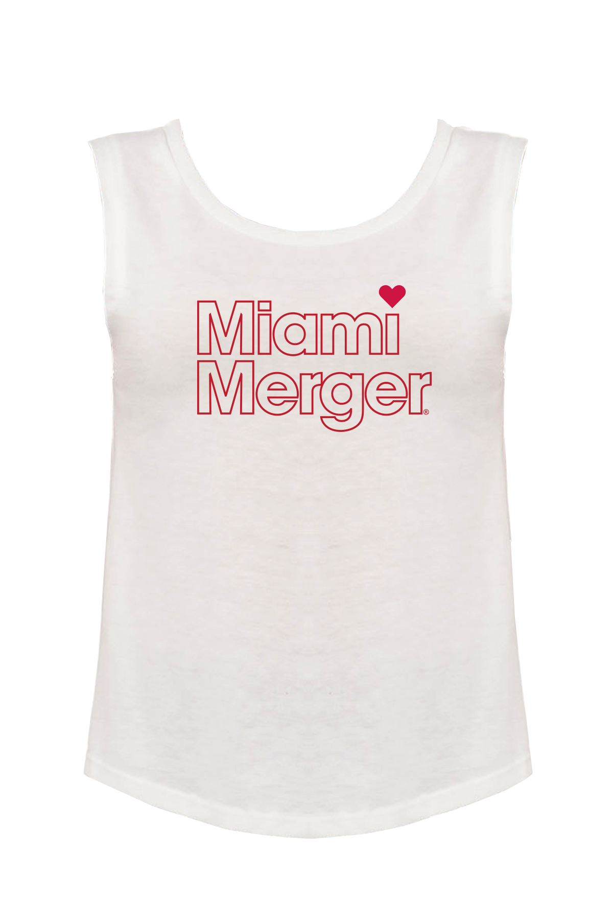 MIAMI UNIVERSITY Redhawks Miami Merger Retro Outline Women's Muscle Tank