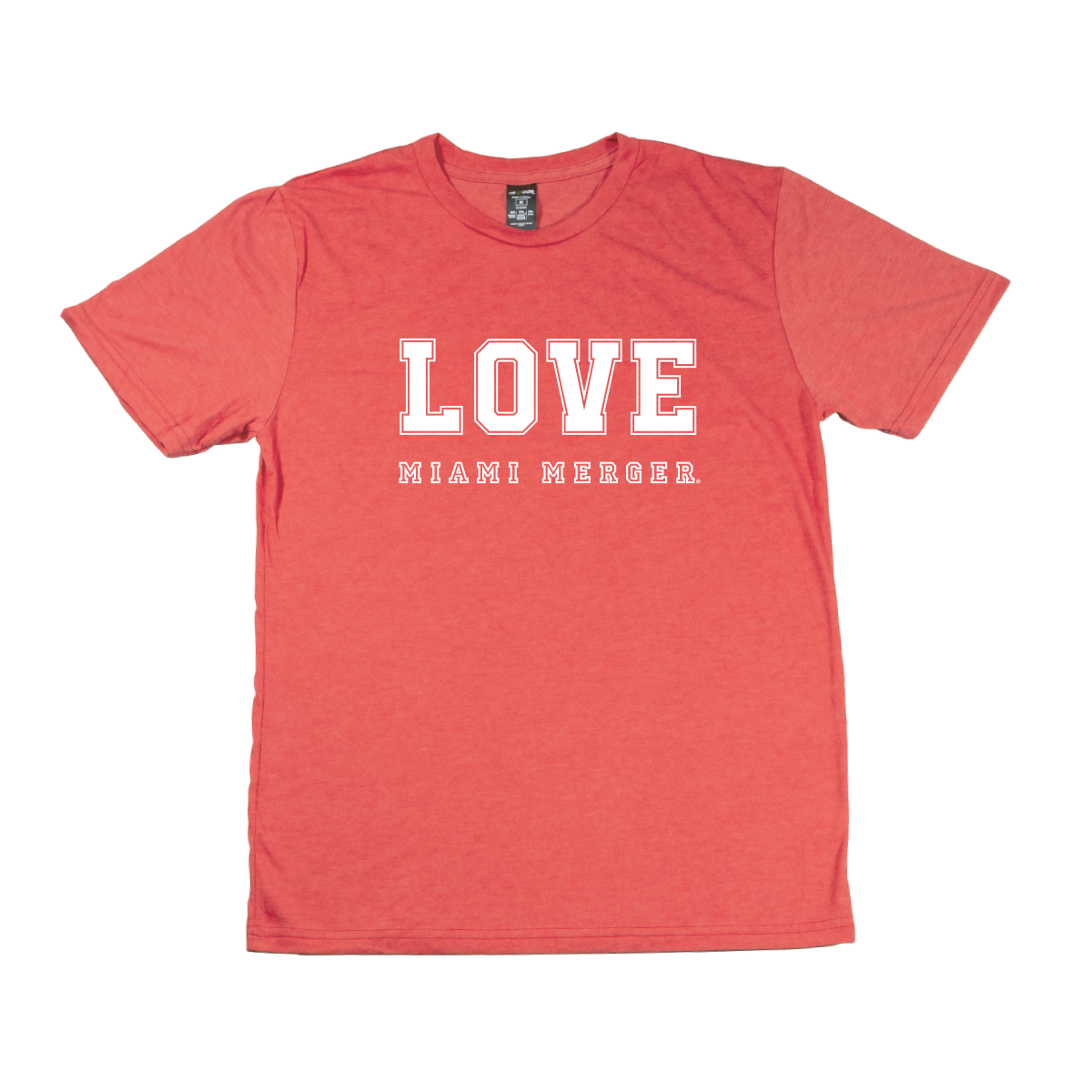 MIAMI UNIVERSITY Redhawks Miami Merger LOVE Crewneck Tee