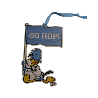 "Johns Hopkins University NAG Jay Ornament - NAG ""GO HOP!"" Flag"