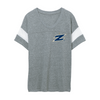 The University of Akron Logo Women's Powder Puff Eco-Jersey T-Shirt