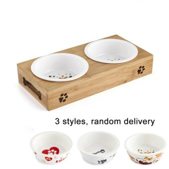Pet Feeding & Drinking Bowls Combo in Stainless Steel or Ceramic
